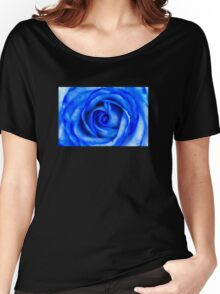 Abstract Macro Blue Rose Women's Relaxed Fit T-Shirt
