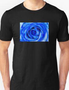 Abstract Macro Blue Rose Unisex T-Shirt