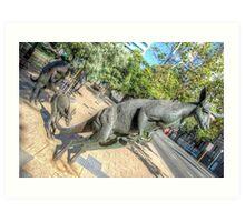 Kangaroos In The City 3 - Perth WA - HDR Art Print
