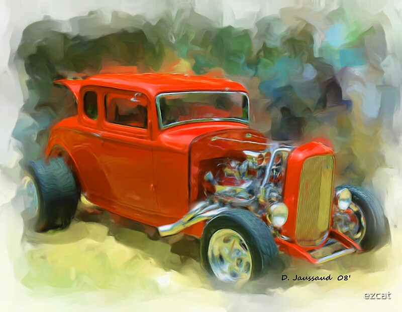 32 ford 5 window coupe by ezcat redbubble for 32 ford 5 window coupe