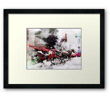 A Ride  Through  The Clouds /    Quebec City  Framed Print