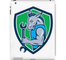 Donkey Mechanic Spanner Mascot Shield Retro iPad Case/Skin