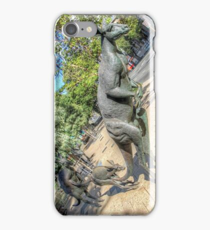 Kangaroos In The City 3 - Perth WA - HDR iPhone Case/Skin