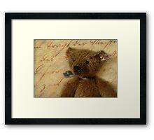 Vintage Ted Framed Print