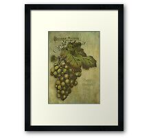 The Grapes of Worth for Mother Framed Print