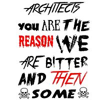 architects you are the reason Photographic Print