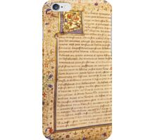 A French Medieval Manuscript iPhone Case/Skin