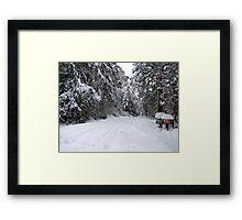 My Snowy Road Framed Print
