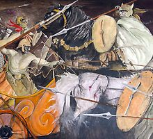 Battle of Masada by Robert Henry Bugeja