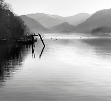 The Jaws of Borrowdale from Derwentwater by Claire Smith