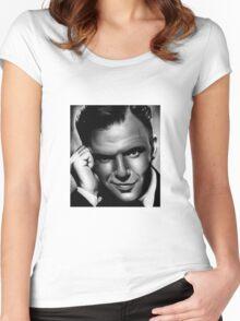 Frank Sinatra - Portrait Women's Fitted Scoop T-Shirt