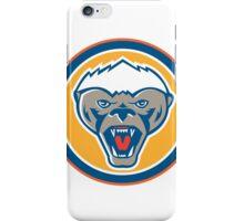 Honey Badger Mascot Head Circle Retro iPhone Case/Skin
