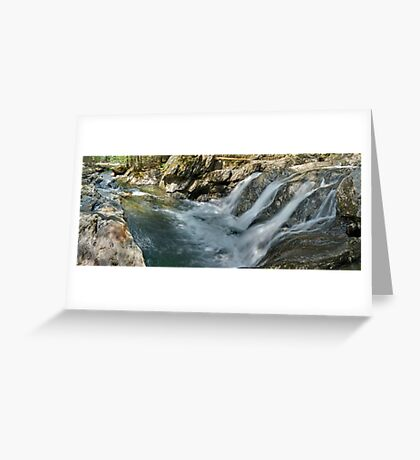 Foote Brook, Spring - Panorama Greeting Card