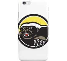 Honey Badger Claws Side Circle Retro iPhone Case/Skin