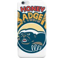 Honey Badger Mascot Claw Circle Retro iPhone Case/Skin