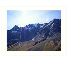Glaciers in the Andes Art Print