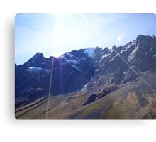 Glaciers in the Andes Metal Print