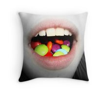 a love for smarties Throw Pillow