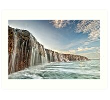 The Waterfall Reef  Art Print