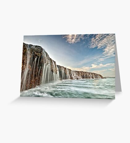 The Waterfall Reef  Greeting Card