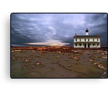 sandstorm lighthouse Canvas Print