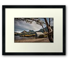 The Dove Lake Boathouse Framed Print
