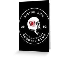 Rising Sun Scooter Club Tokyo Greeting Card