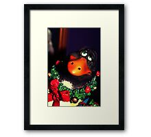 Holiday Penguin Framed Print