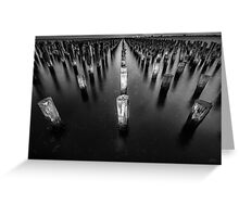 Princes Pier Pylons Greeting Card