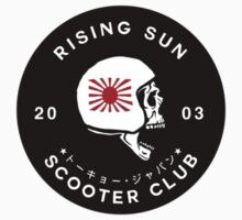 Rising Sun Scooter Club Tokyo [Sticker Version] Kids Tee