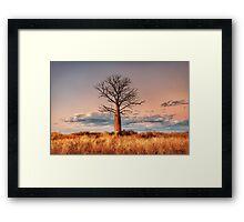 A Pastel Sunset Framed Print