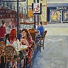 Coffee break, Block Place, Melbourne (2a) by Virginia  Coghill