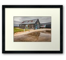 Boat House Reflection Framed Print