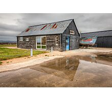 Boat House Reflection Photographic Print