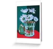 Red on Gold floral still life Greeting Card