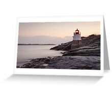 Castle Hill Lighthouse at Sunrise Greeting Card