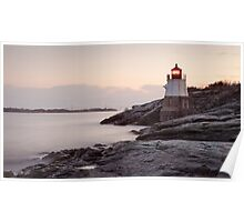Castle Hill Lighthouse at Sunrise Poster