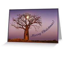Moonlight Christmas Greeting Card