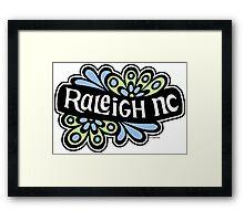 Raleigh 1970's Flowers- green Framed Print