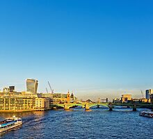 Thames Riverscape, London England by atomov