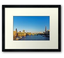 Thames Riverscape, London England Framed Print