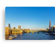 Thames Riverscape, London England Canvas Print
