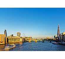 Thames Riverscape, London England Photographic Print