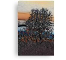 Abstract Sunset Tree Canvas Print
