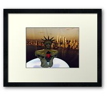 Lego Statue of Liberty, Art of the Brick Exhibition, Discovery Times Square, New York City, Nathan Sawaya, Artist Framed Print