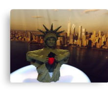 Lego Statue of Liberty, Art of the Brick Exhibition, Discovery Times Square, New York City, Nathan Sawaya, Artist Canvas Print