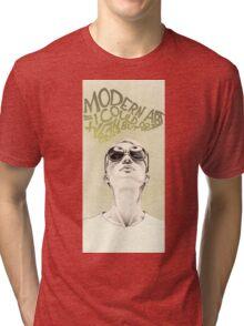 Modern art portrait Tri-blend T-Shirt