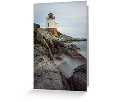 Castle Hill Lighthouse at Sunset Greeting Card
