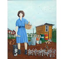 Wind Farmer rural girl Photographic Print