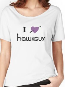 I heart Hawkguy (purple variant) Women's Relaxed Fit T-Shirt